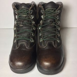 TIMBELAND Brown Leather Field Boots Boys Size 6.5
